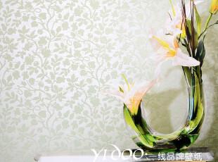异度壁纸 高端环保无纺布 纯纸植绒面 经典欧式田园风情 满铺墙纸,壁纸/墙纸,