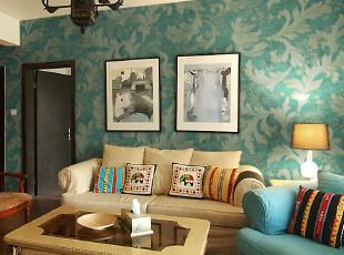 歌诗雅壁纸 客厅电视背景墙 墨绿色莨苕叶 质感纹理墙纸 5062-2,壁纸/墙纸,