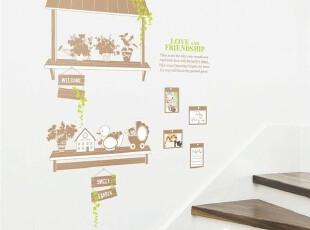 苗圃照片墙-韩国进口客厅沙发走道背景墙纸贴-可移除浪漫满屋墙贴,壁纸/墙纸,