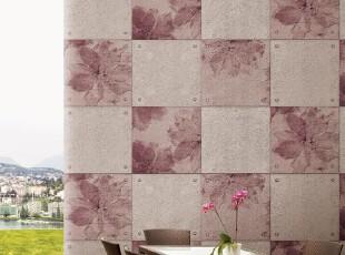 低调优雅仿砖纹/韩国进口壁纸/大气方格子/客厅书房沙发背景墙纸,壁纸/墙纸,
