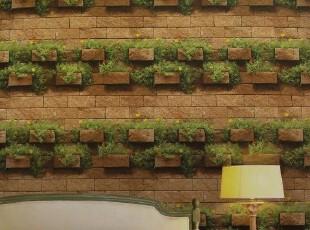 一片生机韩国进口纯纸大卷客厅背景墙纸壁纸阳台玄关仿真砖头砖墙,壁纸/墙纸,