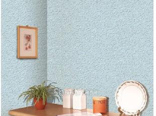 韩国进口自粘即时贴客厅卧室沙发电视背景墙纸-家具翻新贴-银蓝色,壁纸/墙纸,