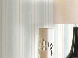 时尚简约竖条纹淡蓝色◆代购韩国PVC大卷壁纸◆客厅沙发卧室墙纸,壁纸/墙纸,