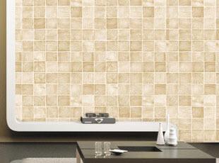 环保金粉纹理马赛克墙纸 时尚自粘厨房浴室卫生间防水格子PVC壁纸,壁纸/墙纸,