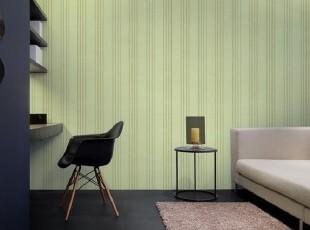 绿色白色竖条纹/韩国正品大卷墙纸/16.5清新简约客厅卧室书房壁纸,壁纸/墙纸,