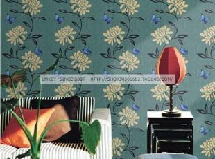 韩国进口自粘即时贴客厅卧室沙发电视背景墙纸家具翻新贴-蓝菊,壁纸/墙纸,