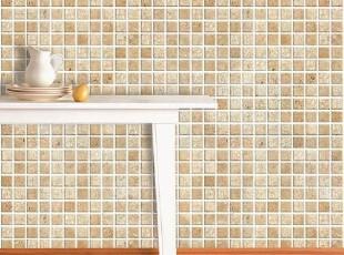 韩国进口防水不干胶自粘即时贴浅咖啡色沙砾马赛克墙纸卫生间贴,壁纸/墙纸,