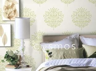 生命之树.韩国进口纯纸壁纸.绿色淡雅宜家客厅沙发卧室背景墙纸,壁纸/墙纸,