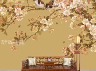 壁纸墙纸大型壁画电视背景墙壁纸客厅卧室背景正品温馨墙壁纸B-9,壁纸/墙纸,
