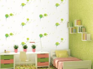 爱己如风 韩国原装小清新自然卧室满贴壁纸T33 环保大卷【包邮,壁纸/墙纸,