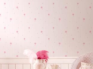 现代简约卡通蒲公英 顶级环保无纺布墙纸 客厅卧室满铺壁纸t,壁纸/墙纸,