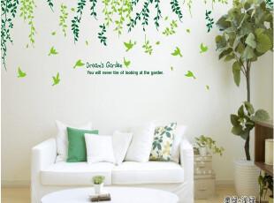 特价包邮 梦想花园 三代客厅 沙发墙电视墙可移除墙纸壁纸墙贴,壁纸/墙纸,