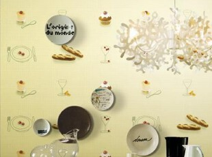 美味蛋糕特价纯纸韩国代购食品店装修大卷墙纸客厅餐厅沙发背景墙,壁纸/墙纸,