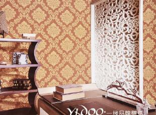 异度壁纸 欧式环保无纺布 奢华洒金植绒 客厅卧室书房满铺墙纸,壁纸/墙纸,