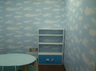 蓝天白云韩国进口自粘壁纸家具贴即时贴背景墙纸冰箱贴橱柜翻新贴,壁纸/墙纸,