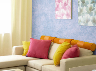 歌诗雅墙纸 客厅卧室儿童房 纯色复古蓝色壁纸 0005-1 地中海风格,壁纸/墙纸,