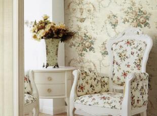 纸尚美学 欧式田园CA110 HA36009无纺布客厅卧室背景满铺壁纸,壁纸/墙纸,