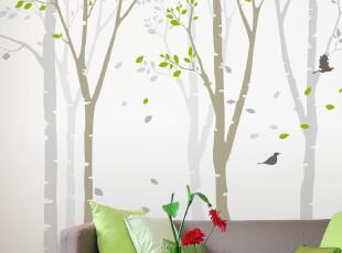 米素壁纸 影树 大型壁画 客厅卧室温馨墙纸 壁纸电视墙背景,壁纸/墙纸,