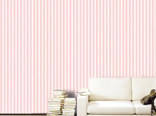 HYUNDAE环保墙纸 仿布条纹地中海风格卧室客厅沙发电视背景墙壁纸,壁纸/墙纸,