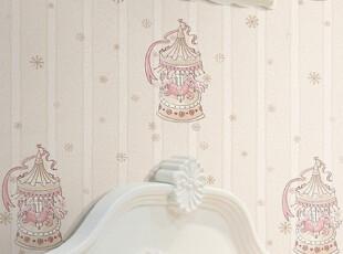 XZ德尔菲诺0401 儿童房墙纸 环保壁纸 卡通 木马 AB款 搭配腰线,壁纸/墙纸,