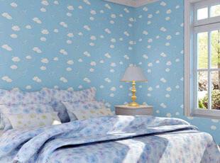 特价环保蓝天白云PVC自粘墙纸 客厅儿童房卧室温馨背景墙贴纸壁纸,壁纸/墙纸,