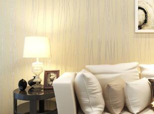 米素 月光森林 墙纸客厅现代简约 壁纸竖条纹背景墙卧室温馨纯色,壁纸/墙纸,