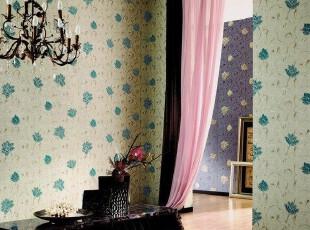 欧式田园风格.韩国进口PVC大卷温馨客厅电视沙发卧室背景墙纸壁纸,壁纸/墙纸,
