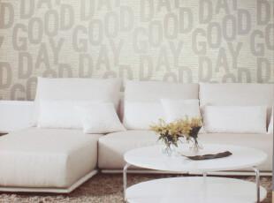 纸芸轩米黄色英文字母ZYNS-10412电视墙墙纸沙发服装店墙纸壁纸,壁纸/墙纸,