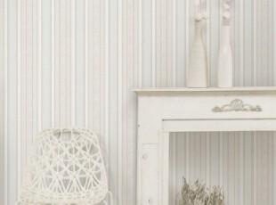 简约现代竖条纹/韩国正品特价纯纸/干净素雅客厅卧室书房墙纸壁纸,壁纸/墙纸,