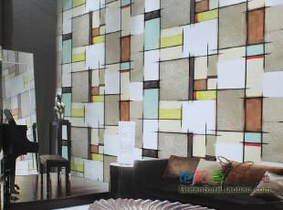 杭州韩国墙纸基地 实体卖场 大卷16.5平 个性几何 -1现货特价,壁纸/墙纸,