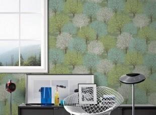 花满楼.韩国进口PVC大卷.朦胧画意客厅卧室电视沙发背景墙纸壁纸,壁纸/墙纸,