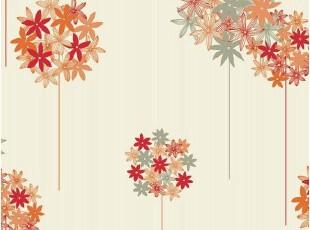 韩国进口时尚简约花球大卷PVC特价壁纸客厅沙发电视卧室背景墙纸,壁纸/墙纸,