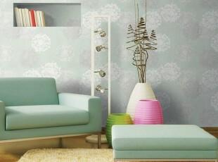 清爽静谧冰绿色/韩国进口壁纸/温馨自然浪漫大花客厅卧室背景墙纸,壁纸/墙纸,