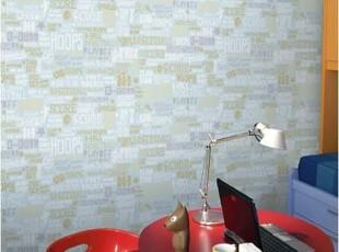 英文字母涂鸦特价韩国进口大卷纯纸男孩子儿童房卧室背景墙纸壁纸,壁纸/墙纸,