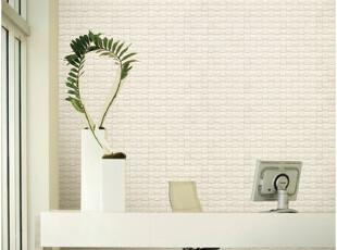 韩国进口PVC大卷现代马赛克白色客厅卧室电视沙发背景墙纸壁纸,壁纸/墙纸,