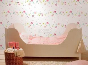 五颜六色缤纷小鸟小房子/韩国进口PVC壁纸/环保宝宝房间卡通墙纸,壁纸/墙纸,