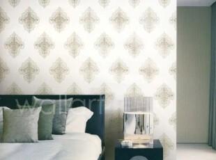 新月神殿/韩国进口墙纸/白色高贵大方简欧客厅书房卧室背景壁纸,壁纸/墙纸,