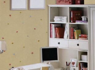 纸尚美学墙纸 儿童房童趣卡通小花ca11 301203卧室背景壁纸,壁纸/墙纸,