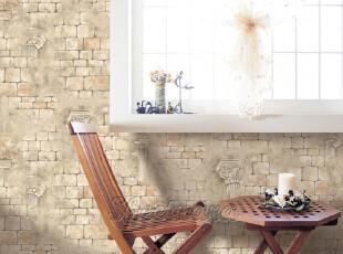韩国进口*古希腊雅典娜*砖纹背景墙壁纸/环保/背景墙纸/瓷砖贴,壁纸/墙纸,