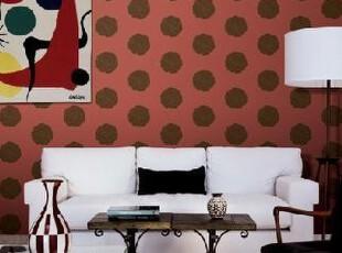 现代时尚韩式大花 韩国纯纸大卷红色壁纸 客厅卧室床头背景墙纸,壁纸/墙纸,