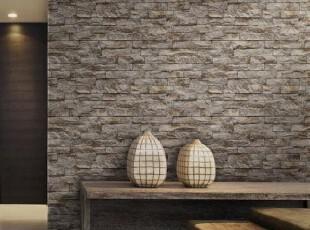 韩国代购纯纸壁纸/客厅餐厅书房文化砖背景墙纸/立体感仿砖纹墙纸,壁纸/墙纸,