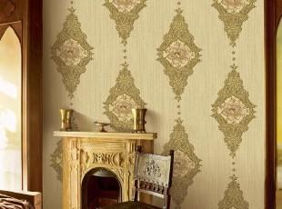 尊贵古典大气浅金色欧式背景墙纸特价韩国进口大卷PV客厅卧室壁纸,壁纸/墙纸,