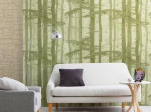 晨曦松林/韩国进口PVC壁纸/自然气息背景墙纸/意境树林壁画风格,壁纸/墙纸,
