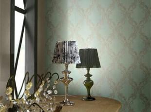 地中海复古大马士革.韩国正品大卷壁纸.客厅书房沙发卧室背景墙纸,壁纸/墙纸,