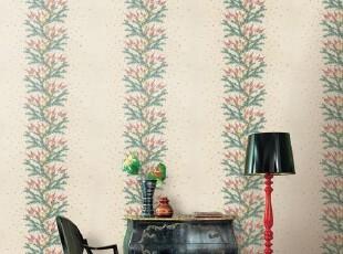 松树枝韩国进口大卷PVC特价宽条纹壁纸客厅沙发书房卧室背景墙纸,壁纸/墙纸,