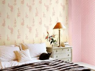韩国进口PVC壁纸/大卷客厅卧室壁纸/春花烂漫.粉色条纹.田园大花,壁纸/墙纸,
