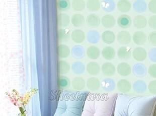 绿色泡泡韩国进口自粘壁纸家具贴即时贴背景墙纸冰箱贴橱柜翻新贴,壁纸/墙纸,