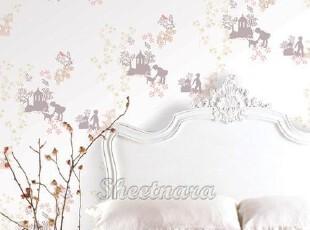 童话故事韩国进口儿童房自粘壁纸家具贴即时贴背景墙贴翻新贴,壁纸/墙纸,