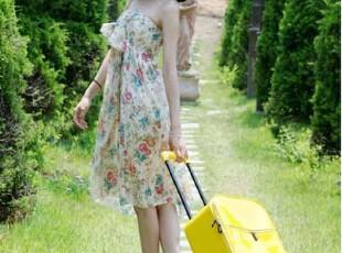 可爱韩国皮箱 大红色结婚新娘箱 18寸22寸登机箱男女拉杆旅行箱包,婚庆,