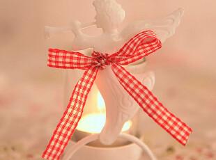 特!铁艺白色吹号的小天使烛台带玻璃烛杯婚庆家居摆件655K,婚庆,